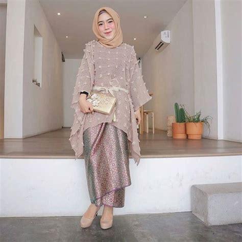 contoh kebaya muslim modern terpopuler model baju muslim terbaru