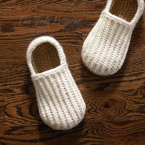 mens house shoes  lazy day loafer slipper crochet