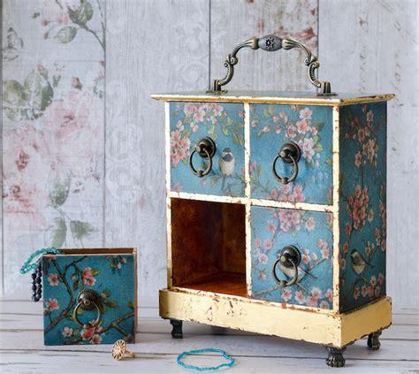 decoupage birthday drawers shabby jewellery chest mini box chic gift christmas podge expert mod learn rocks folksy items modpodgerocksblog