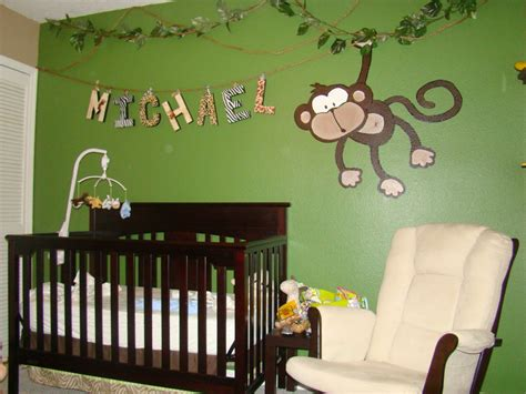 chambre garcon jungle monkey themed nurseries webby