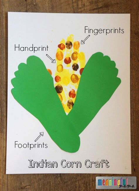 indian corn thanksgiving handprint craft 295 | Indian Corn Harvest Craft for Kids Harvest and Fall Handprint Craft Large600 ID 1733593