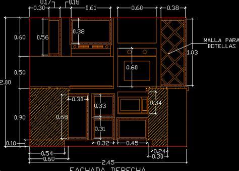 Kitchen Dwg Elevation For Autocad • Designs Cad