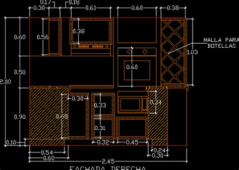 kitchen  autocad cad   mb bibliocad