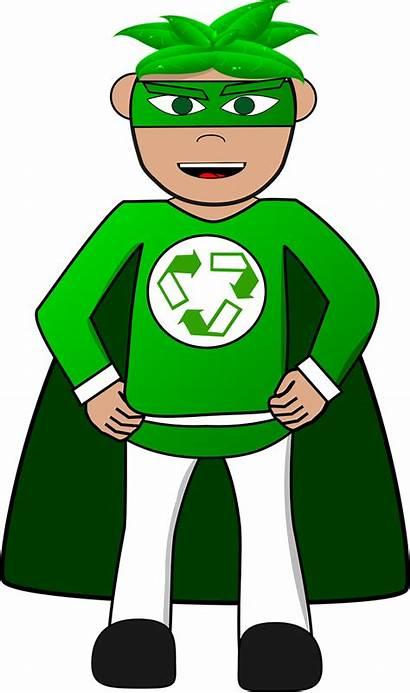 Recycle Superhero Eco Clipart Pixabay Cartoon Reuse