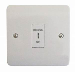 Single Gang Emergency Lighting Test Switch