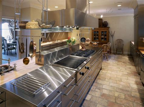 metal island kitchen metal countertops copper zinc and stainless steel hgtv 4086