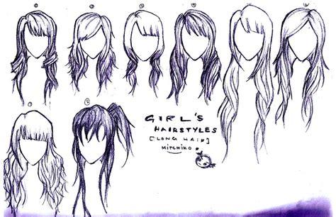 anime girl hair drawing  getdrawingscom