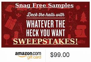 $99 Amazon Gift Card Holiday Sweepstakes ENDS TONIGHT ...