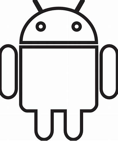 Robot Android Clipart Outline Clip Icon Bot