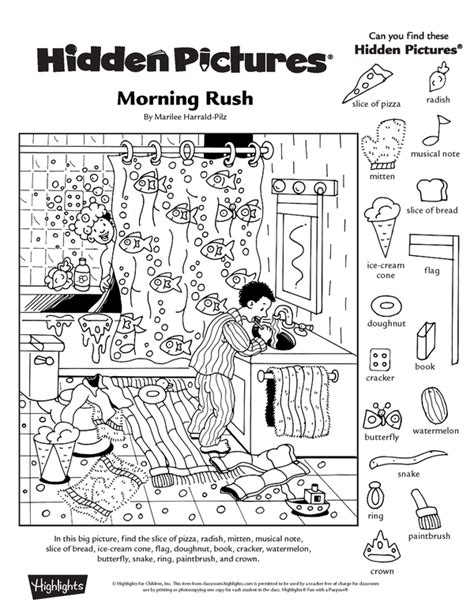 collection of free printable picture worksheets