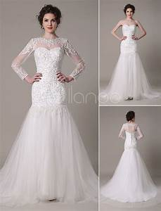 sequined wedding dress detachable neckline lace applique With milanoo wedding dresses