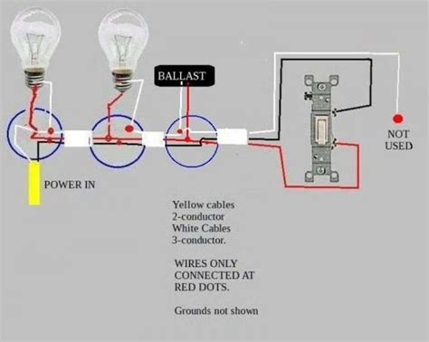 Troubleshooting Problem Wiring Power Two Fluorescent