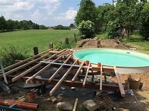 Terrasse Mit Holz : pool selber aufbauen ~ Whattoseeinmadrid.com Haus und Dekorationen