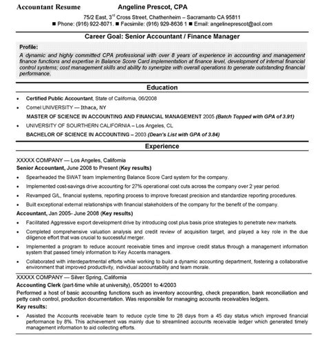 resume for an accountant accounting sample accountant resume top 10 resume