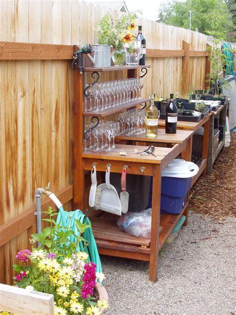 simpel diy garden work bench interior design ideas
