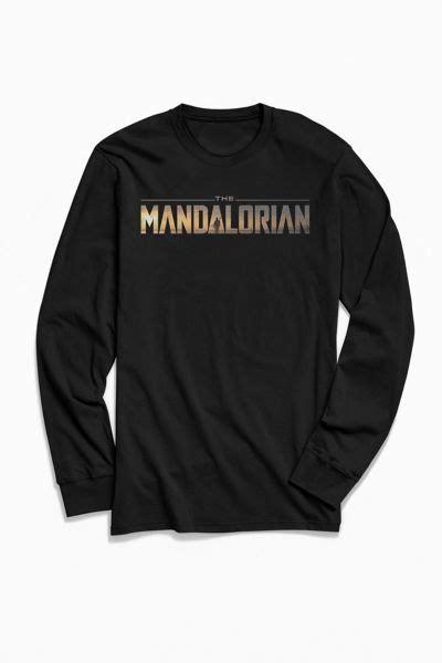 Star Wars The Mandalorian Title Long Sleeve Tee   Urban ...