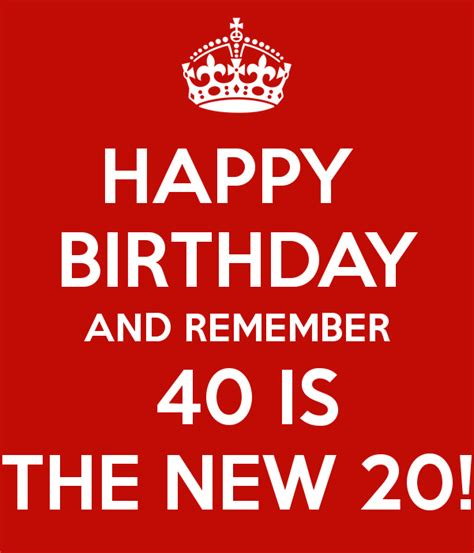 Happy Birthday And Remember 40 Is The New 20! Poster