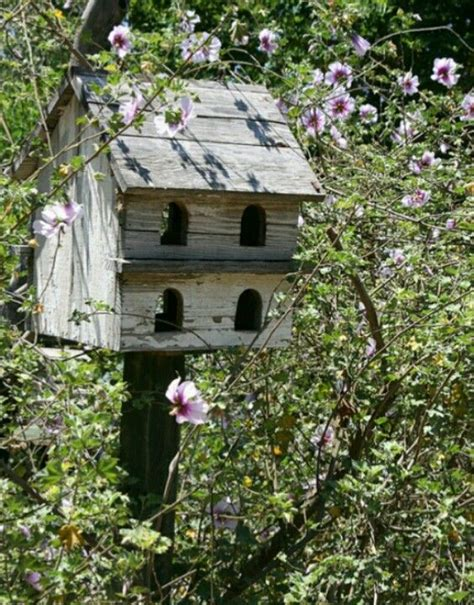 Rustic Birdhouse Birds Butterflies Etc