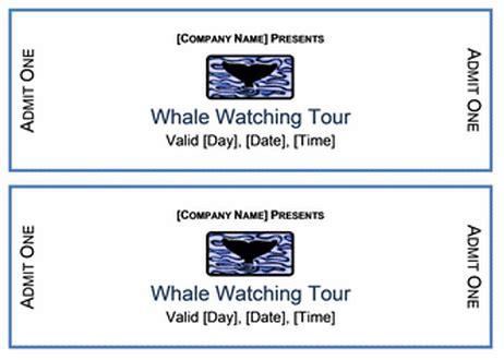 ticket templates   printable templates