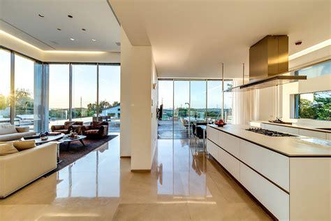 modern island kitchen modern luxury villas designed by gal marom architects