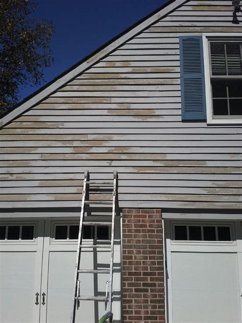 peeling solid color stain  cedar siding painting
