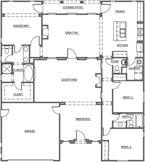 home plans with courtyard courtyard homes plans u shaped story house