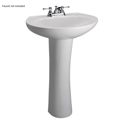 lowes small bathroom sinks shop barclay hshire 33 in h white vitreous china