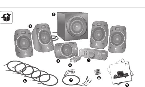 page   logitech home theater system  user guide