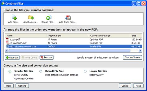 combine multiple pdf forms into one document combine files package and optimize pdfs acrobat 8