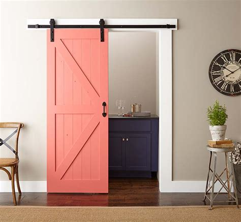 installing a barn door easy barn door paint and install the home depot