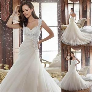 beautiful long wedding dress 2015 beaded open back lace With beautiful back wedding dresses