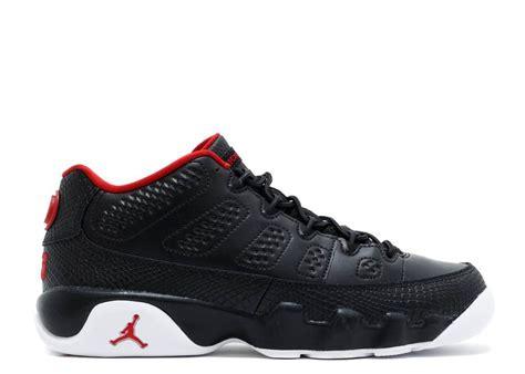 Air Jordan 9 Retro Low Bg Gs Snakeskin Gym Black White Red