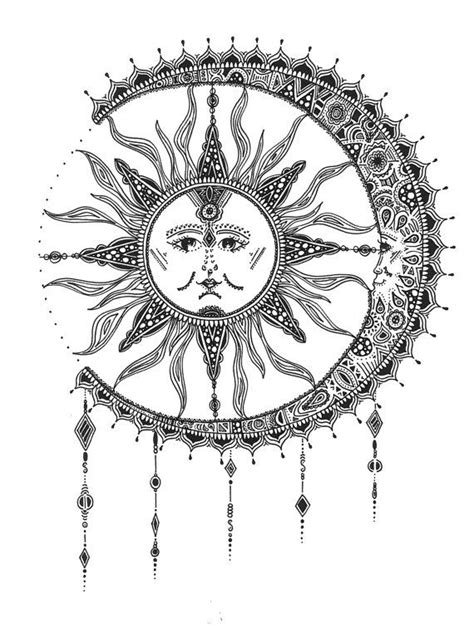 Sun & Moon Print by RunWildeDesigns on Etsy | Moon sun