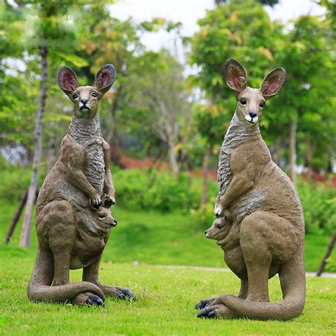 jardin ext 233 rieur d 233 coratif r 233 sine animaux grand kangourou sculpture artisanat en r 233 sine id de