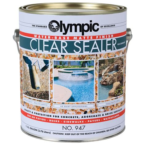olympic clear sealer matte finish gallon