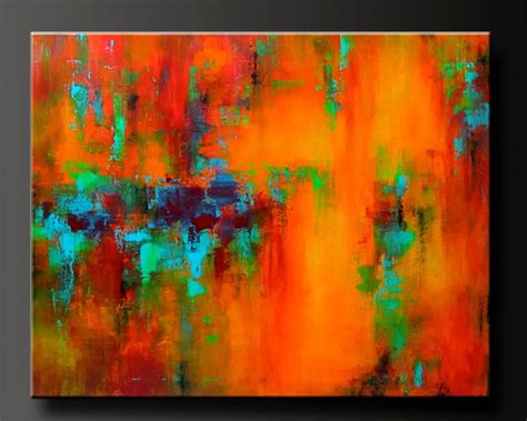 Mardi Gras 30 X 24 Acrylic Abstract Painting Highly