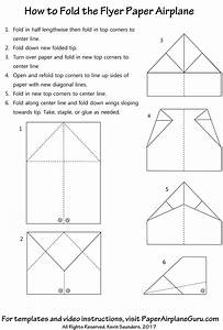 flyer paper airplane design instructions and templates With paper airplane templates for distance