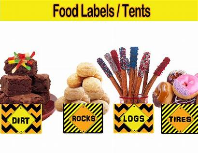 Construction Labels Party Tents Themed Birthday Cupcakemakeover
