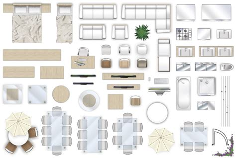 furniture floorplan top  view style  model