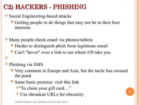 smart phone and mobile device security