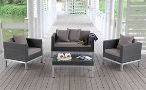 Günstige Gartenmöbel Rattan : g nstige rattan lounge opera in graubraun ~ Eleganceandgraceweddings.com Haus und Dekorationen