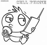 Phone Coloring Cell Pages Clipart Phones Baby Printable Mobile Popular Library Paper Template Colorings Coloringhome sketch template