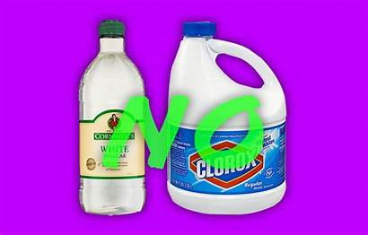 Bleach Vinegar Cleaning Chemicals Toxic Mix Dilute