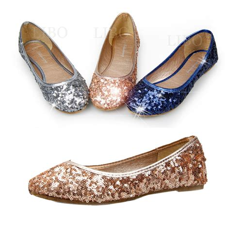 women spring fashion ballet shoes flats sparkly sequin