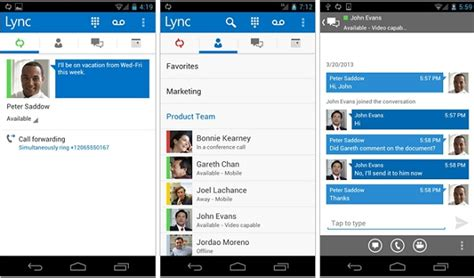 lync 2013 for android microsoft lync 2013 for android available for