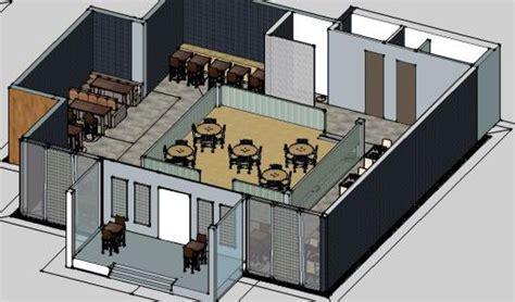 restaurant furniture  skp model  sketchup designs cad