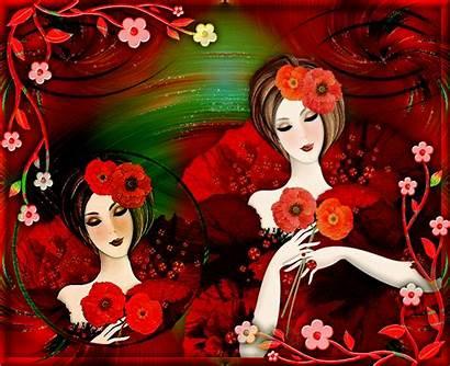 Femmes Gifs Tubes Centerblog Coquelicots Belles Poems