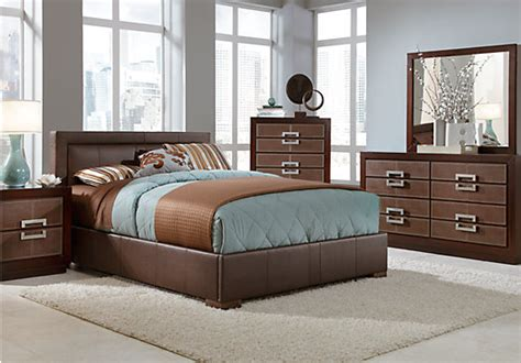 Rooms To Go Bedroom Sets by City View Merlot 5 Pc King Upholstered Bedroom Bedroom