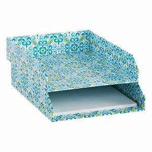 add some spring to your desk and a great inbox for papers With decorative stacking letter trays