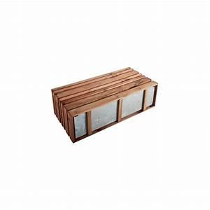 Jardiniere Avec Treillis Carrefour : jardini re avec treillis lignz en bois et acier galvanis ~ Dailycaller-alerts.com Idées de Décoration